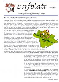 Mitteilungsblatt der Dorfgemeinschaft Graupa gGmbH