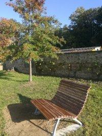 Sonnenbank im Schlosspark