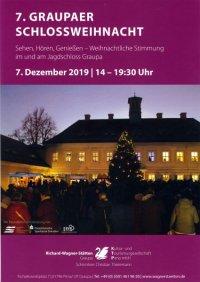 Plakat Schlossweihnacht Graupa 2019
