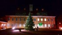 Der Weihnachtsbaum im Ambiente des Jagdschlosses