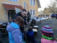 Eröffnungsfeier des neuen Schulgebäudes in Bonnewitz