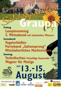 Plakat zum Schlossparkfest Graupa 2021