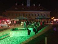Abendliche Stimmung im Schlosshof