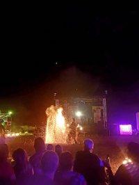 Feuershow mit Jana