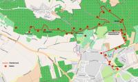 Übersicht Karte Naturlehrpfad Graupa Stationen