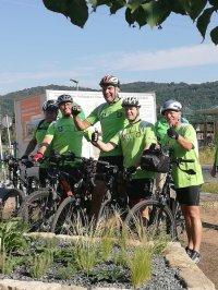 Radteam vor Abfahrt in Graupa