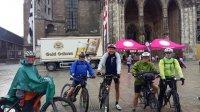 Etappenankunft am Ulmer Münster