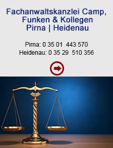 Fachanwaltskanzlei Camp, Funken & Kollegen Pirna und Heidenau