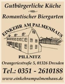 Einkehr am Palmenhaus Pillnitz
